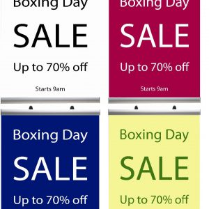 Boxing Day, January and Christmas Sale Posters