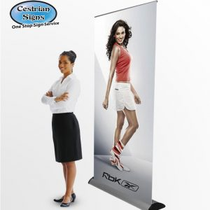 BARRACUDA Pull-up Banner Display Printed 800mm
