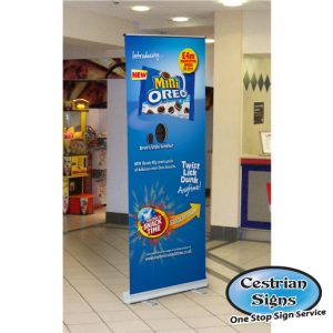DISCOUNT Roll-Up Poster Banner Stand 850mm