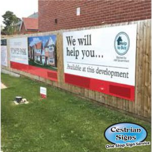 fencing banners for building sites
