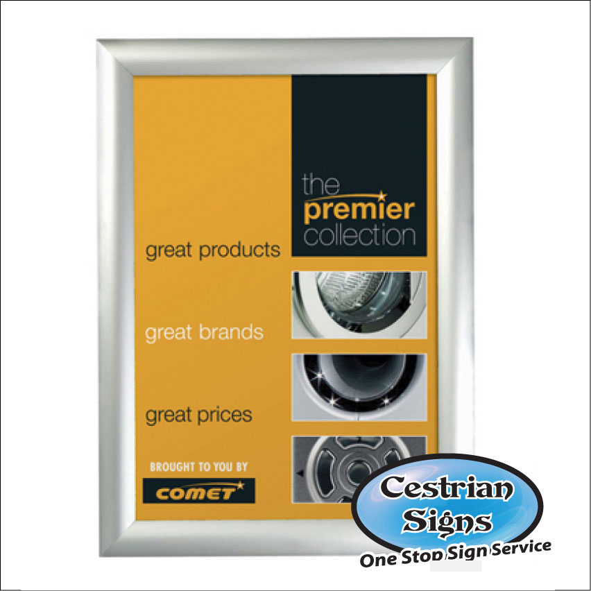 Security Snapframe, 42mm Profile, A0 30 x 40 inches 40 x 60 inches