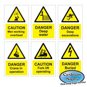 Hazard Caution Site Safety Signs