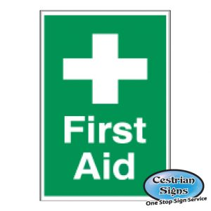 first aid builders site safety sign