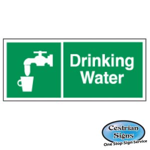 drinking water building site safety sign