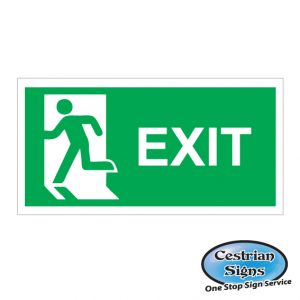 fire exit builders safety sign