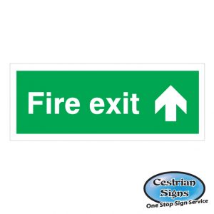 fire exit straight on sign