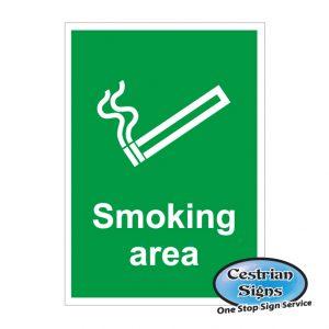 smoking area site sign