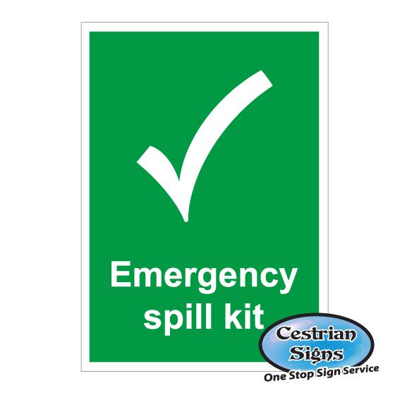 emergency spill kit safety sign