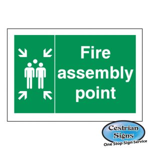 fire assembly point safety site sign