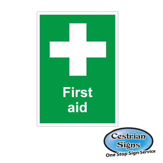 first aid builders site sign