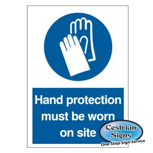 hand protection must be worn in this area safety signs