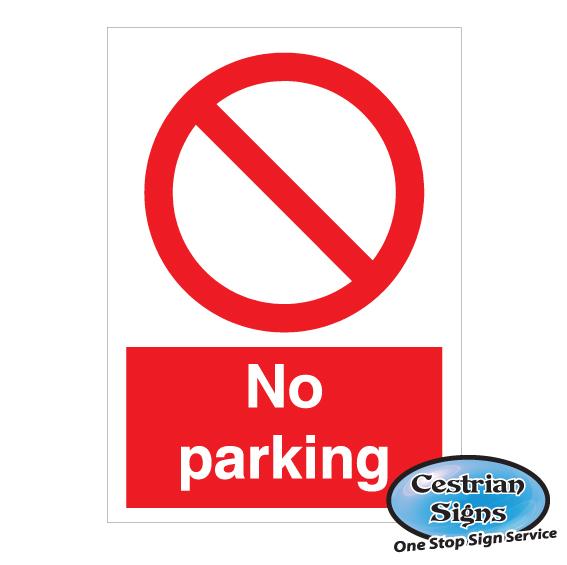 No parking signs 400mm x 600mm