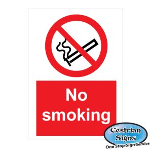 no smoking construction site safety sign
