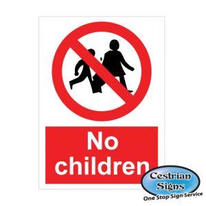 No children site signs