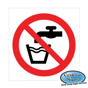 not drinking water prohibition safety signage