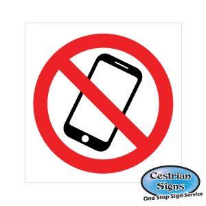no mobile phones prohibition safety signage