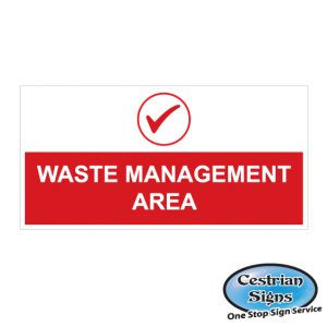 Construction Waste Management Area Signs 2440mm