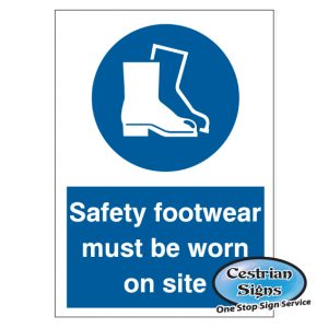 safety footwear building site safety signs