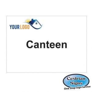 canteen building site sign