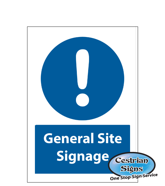 General Site Mandatory Safety Signs