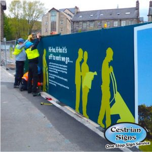 hauding board signs for building sites