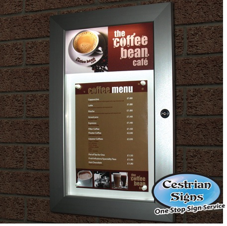 Menu Cases - notice boards