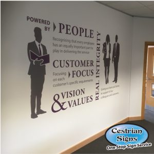 large office wall manifestation vinyl graphics