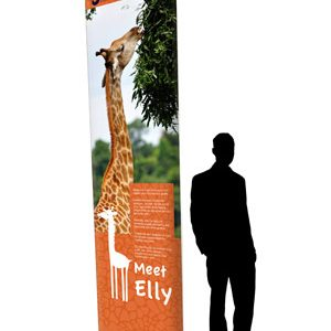 GIANT MOSQUITO 3m Tall Pull-Up Roller Banner Stand 1500 mm