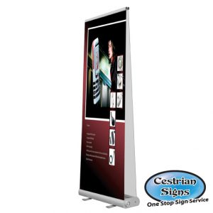 SMART Commercial Roll-up Banner Stand Double Sided 1000 mm