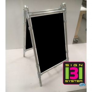 heavy duty black board pavement sign