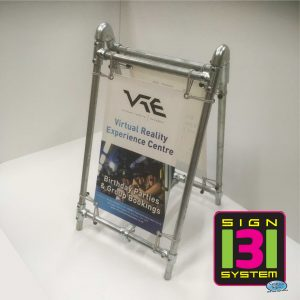 Heavy Duty Free Standing Pavement Banner A Board Sign Medium