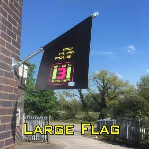 large wall mounted flag